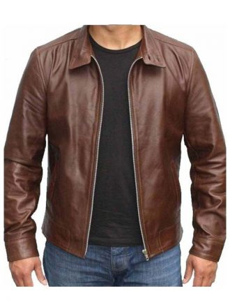 Magneto X-Men First Class Michael Fassbender Leather Brown Jacket