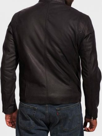 Mens Black Ionic Motorcycle Leather Jacket