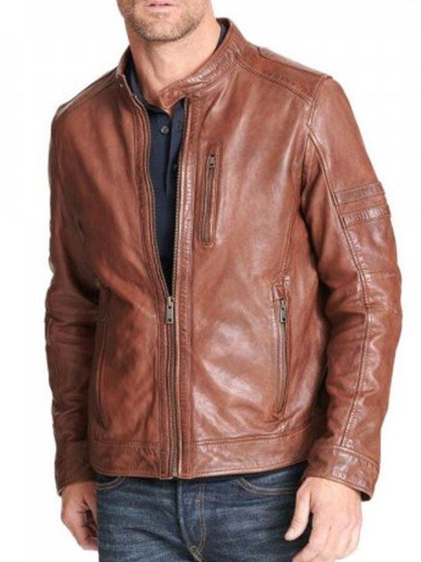 Mens Brown Motorcycle Leather Jacket