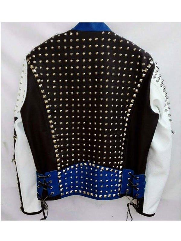 Men's Cafe Racer Studded Biker Jacket