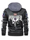 Mens Hooded Black Punisher Halloween Jacket