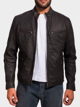 Mens Ionic Biker Leather Jacket