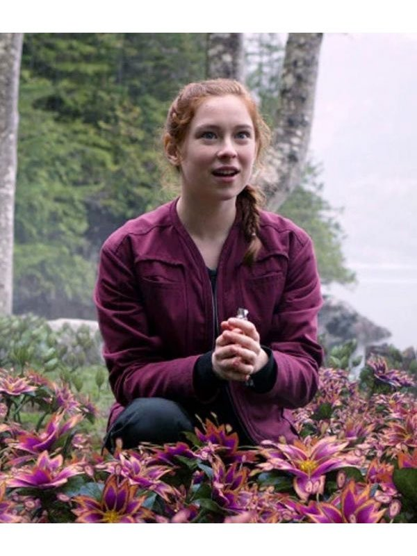 Mina Sundwall Lost In Space Red Cotton Jacket