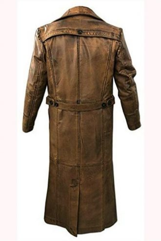 Murder on the Orient Express Johnny Depp Brown Leather Coat