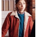 Nancy Wheeler Stranger Things Red Fur Jacket