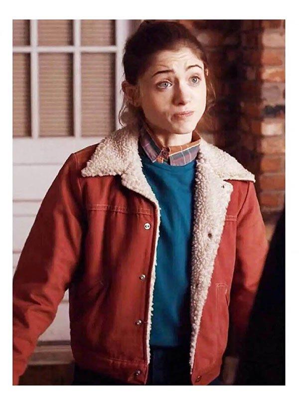 Nancy Wheeler Stranger Things Red Fur Jacket