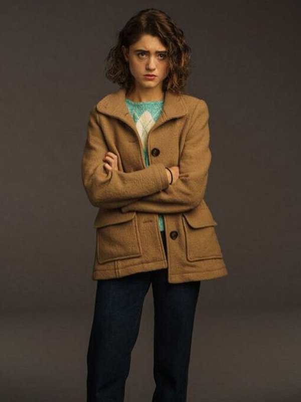 Nancy Wheeler Stranger Things S03 Wool Coat