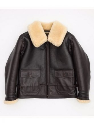 Navy M-445A Flight Leather Shearling Jacket