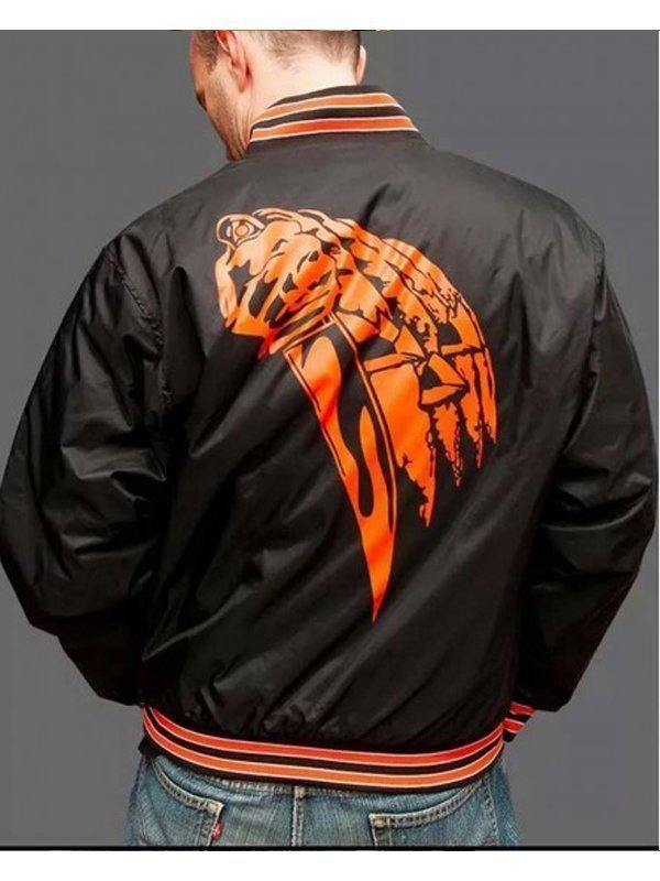 Nylon Black Bomber Halloween 78 Jacket For Men's