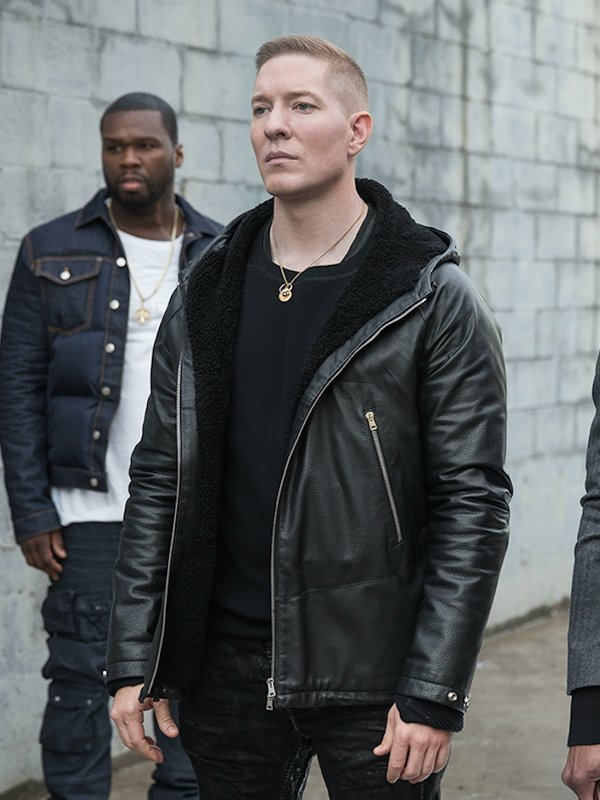 Power Tommy Egan Black Hooded Leather Jacket