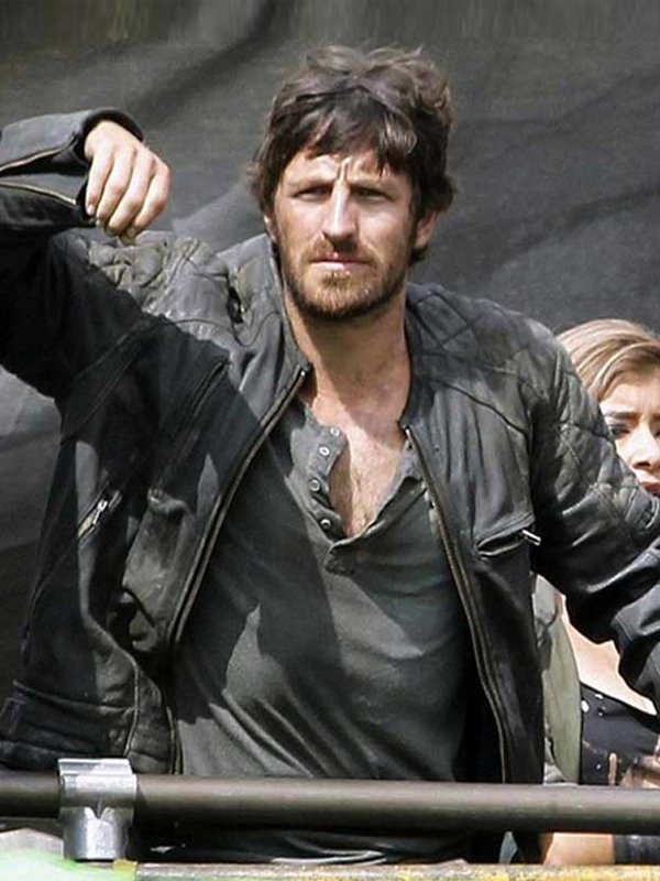 Resident Evil the Final Chapter Eoin Macken Diamond Quilted Leather Jacket