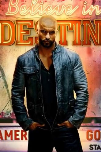 Ricky Whittle American God Distressed Black Leather Jacket