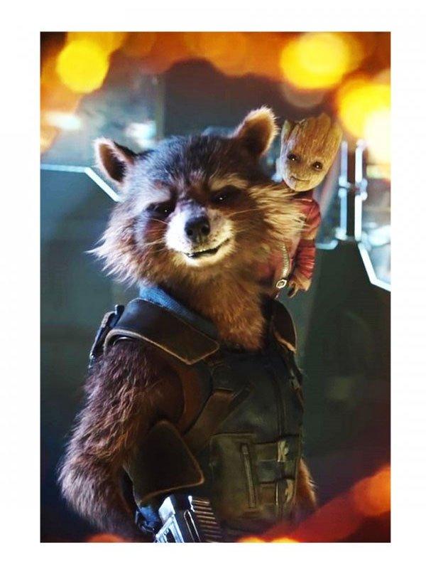 Rocket Raccoon Avengers Endgame Cotton Vest