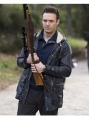 Ross Marquand The Walking Dead Hooded Leather Jacket