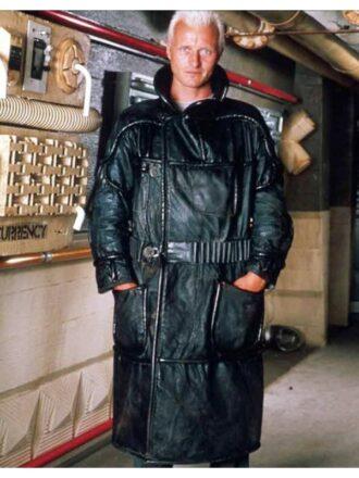 Roy Batty Blade Runner 1982 Black Leather Coat