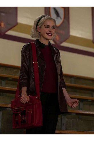 Sabrina Spellman Chilling Adventures Of Sabrina Brown Leather Coat