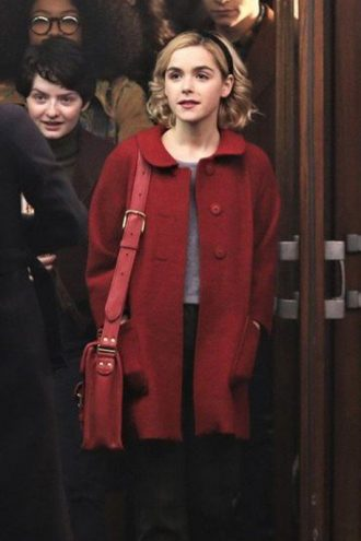 Sabrina Spellman Chilling Adventures of Sabrina Red Wool Coat