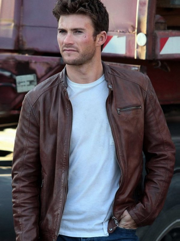 Scott Eastwood Fate 8 Little Nobody Brown Leather Jacket
