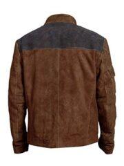 Solo A Star Wars Story Alden Ehrenreich Suede Leather Jacket