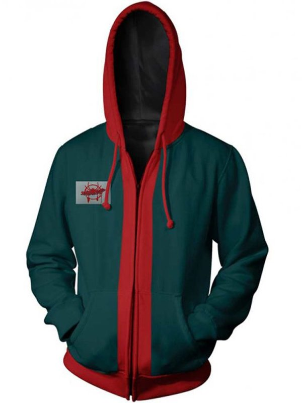 Spiderman Into the Spider-Verse Green Hoodie