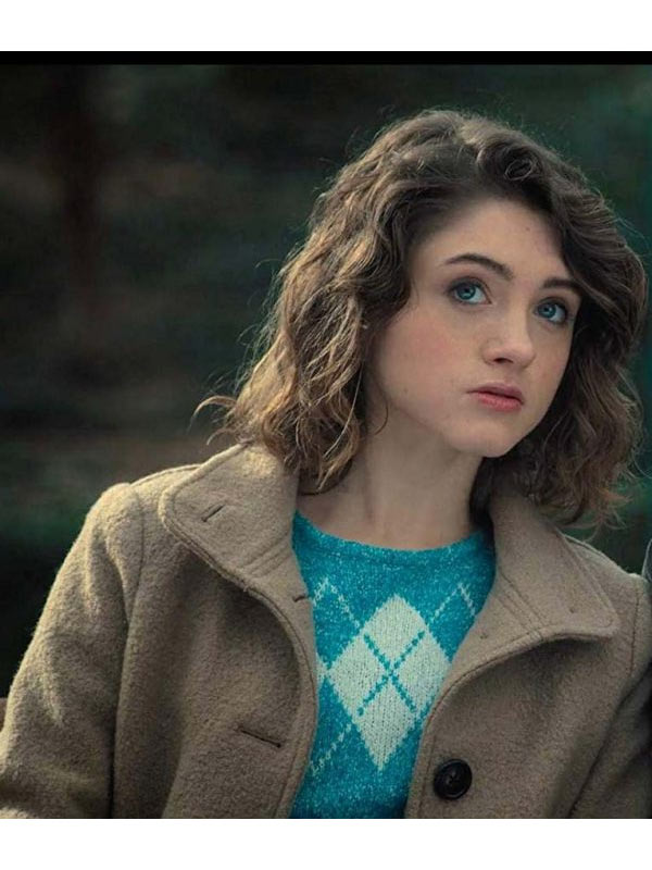 Stranger Things Natalia Dyer Brown Coat