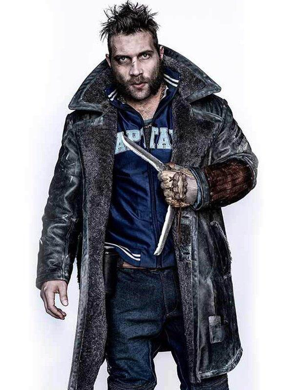 Suicide Squad Captain Boomerang Shearling Coat