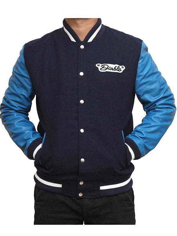 Suicide Squad Jay Hernandez Blue Baseball Bomber Jacket