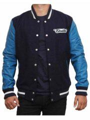 Suicide Squad Jay Hernandez Blue Letterman Jacket