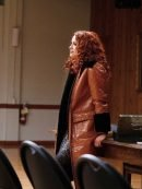 Supernatural S15 Danneel Ackles Shearling Brown Leather Coat