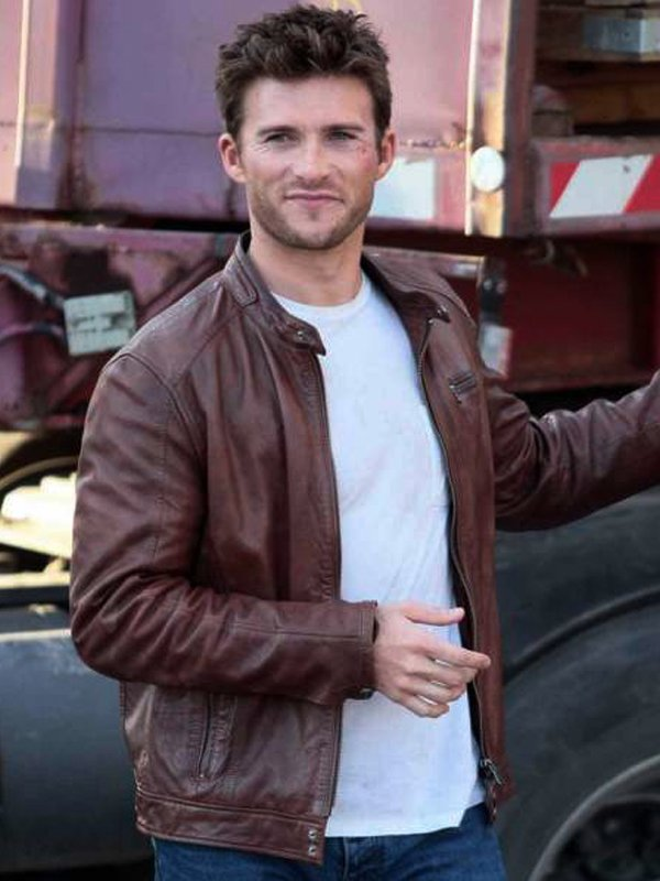 The Fate Of The Furious Scott Eastwood Brown Biker Jacket