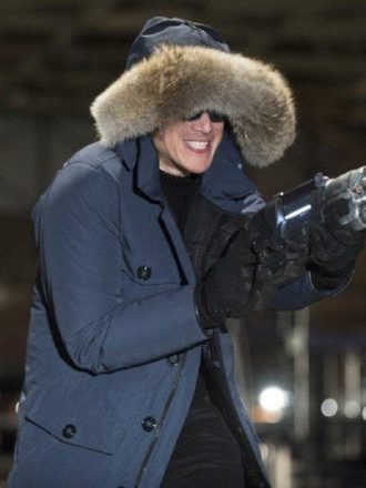 The Flash Captain Cold Blue Fur Collar Hooded Coat