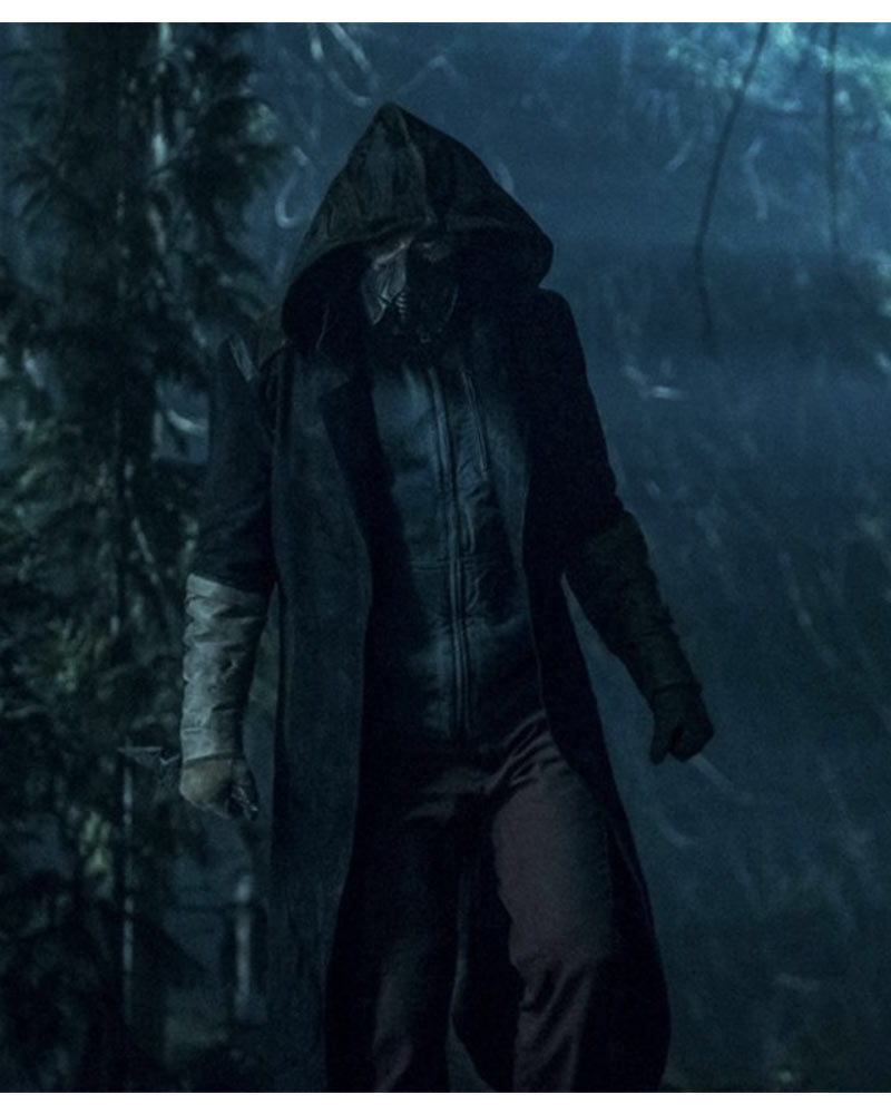 The Flash Chris Klein The Death Of Vibe Hooded Leather Coat