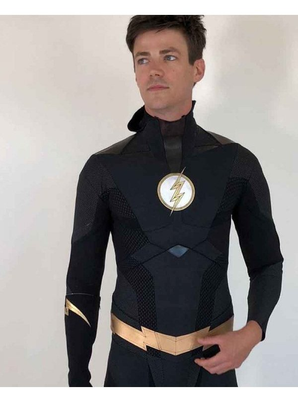 The Flash Grant Gustin Barry Allen Black Leather Jacket