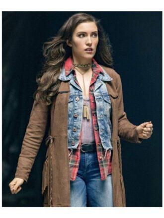 The Flash Izzy Bowin Fringe Leather Coat