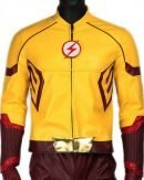 The Flash Keiynan Lonsdale Kid Flash Yellow Leather Jacket