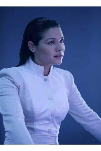 The Flash Kim Engelbrecht White Cotton Jacket