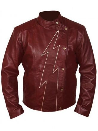 The Flash S02 Teddy Sears Brown Leather Jacket
