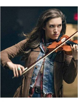 The Flash S04 Miranda MacDougall Brown Leather Coat