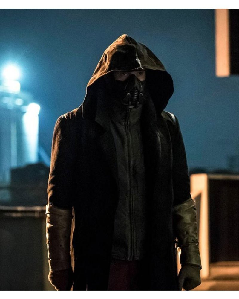 The Flash S05 Cicada Black Hooded Coat