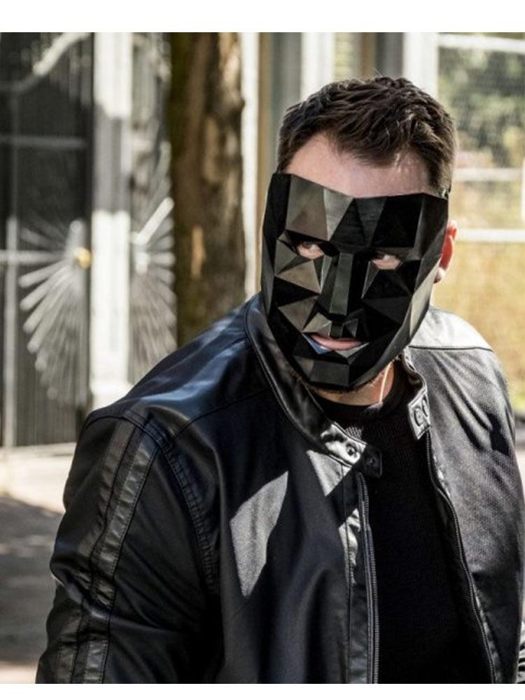 The Flash Gridlock Black Leather Jacket - JacketsJunction