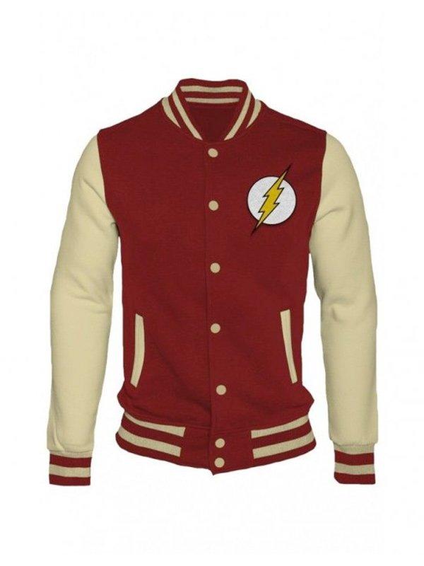 The Flash Varsity Bomber Jacket