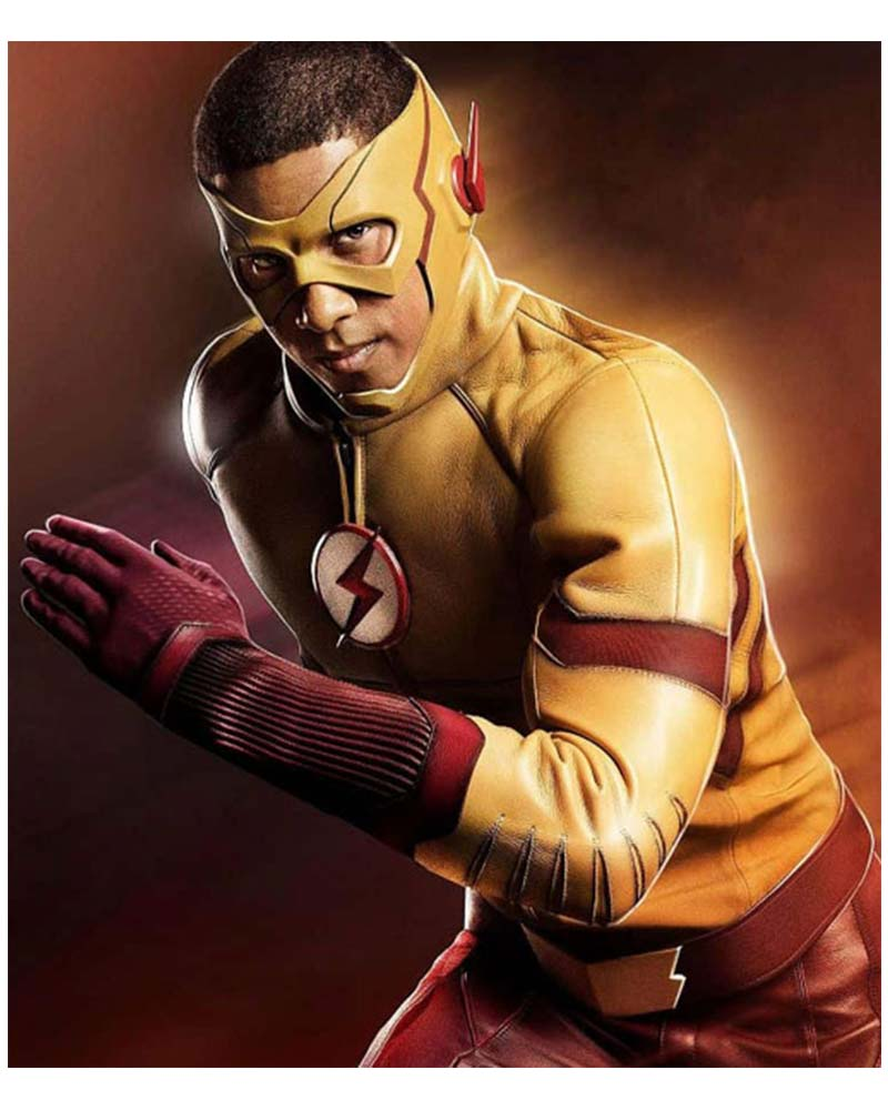 The Flash Wally West Kid Flash Leather Jacket