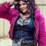 The Walking Dead Juanita Sanchez Pink Faux Fur Jacket