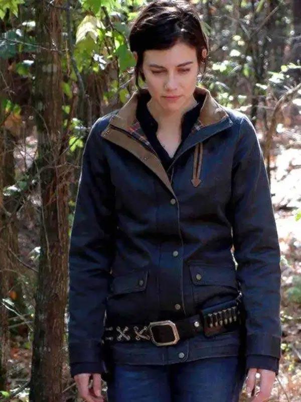 The Walking Dead Lauren Cohan Blue Jacket