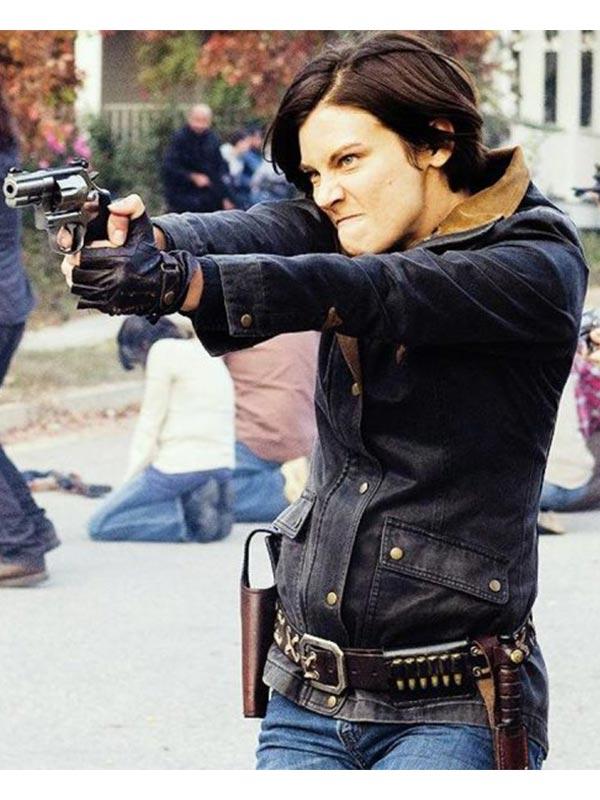 The Walking Dead Lauren Cohan Maggie Blue Denim Jacket
