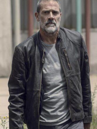 The Walking Dead Negan Black Biker Jacket