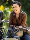 The Walking Dead Rosita Espinosa Leather Biker Jacket