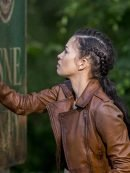 The Walking Dead S09 Christian Serratos Brown Leather Jacket
