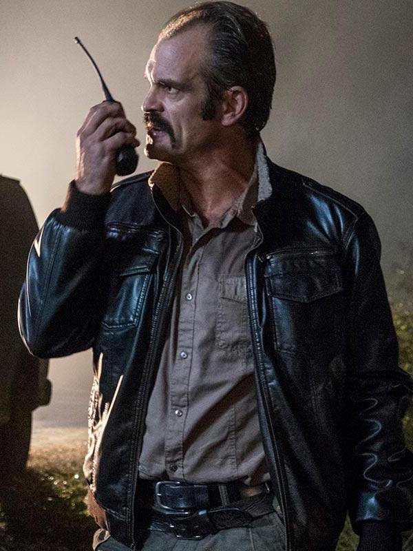 The Walking Dead Steven Ogg Black Bomber Jacket