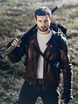 The Walking Dead World Beyond Felix Biker Leather Jacket
